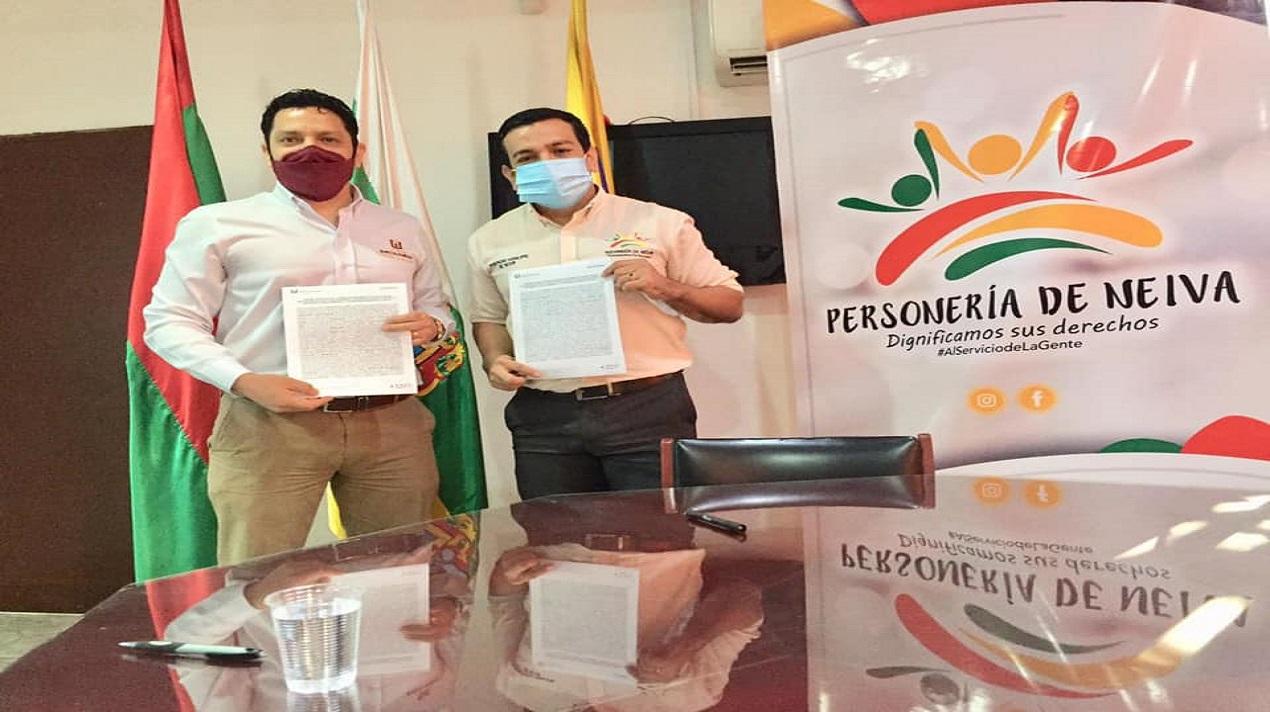 CONVENIO DE COOPERACIÓN INTERINSTITUCIONAL ENTRE LA PERSONERÍA DE NEIVA Y LA UNIVERSIDAD SURCOLOMBIANA