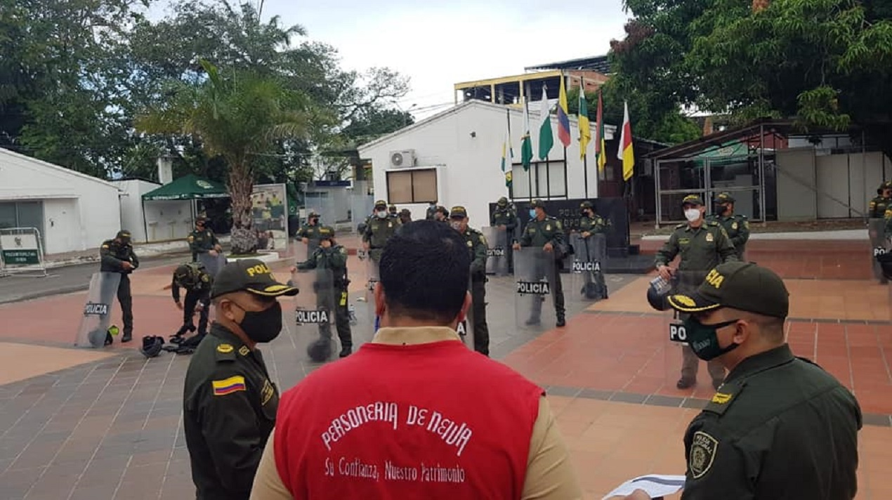 VISITA DE VERIFICACIÓN A LA POLICÍA NACIONAL DE ELEMENTOS INDISPENSABLES